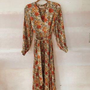 Fallen floral maxi dress